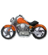 "45"" Motorcycle Orange Balloon"
