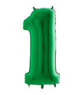 "40"" Megaloon Foil Shape 1 Green Number Balloon"