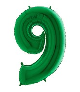 "40"" Megaloon Foil Shape 9 Green Number Balloon"