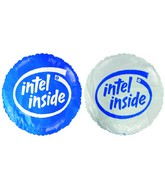 "18"" Intel Inside Promotional White & Blue Balloon"