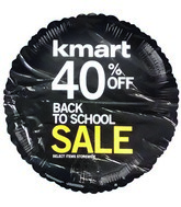 "18"" Kmart Back to School Sale Event Black Balloon"