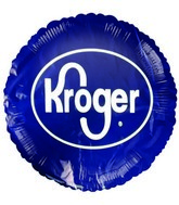 "18"" Kroger Logo Promotional Blue Balloon"