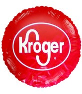 "18"" Kroger Logo Promotional Red Balloon"