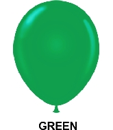 "11"" Standard Party Style Latex Balloons (100 CT) Green"