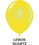 "11"" Sheer Party Style Latex Balloons (100 CT) Lemon Quartz"