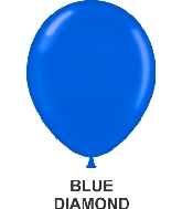 "11"" Sheer Party Style Latex Balloons (100 CT) Blue"