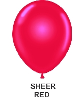 "9"" Sheer Party Style Latex Balloons (100 CT) Red"