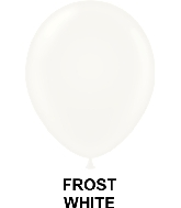 "11"" Metallic Party Style Latex Balloons (100 CT) Frost White"