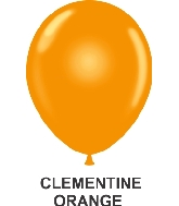"9"" Sheer Party Style Latex Balloons (100 CT) Clementine"