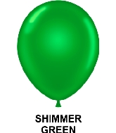 "9"" Metallic Party Style Latex Balloons (100 CT) Green"