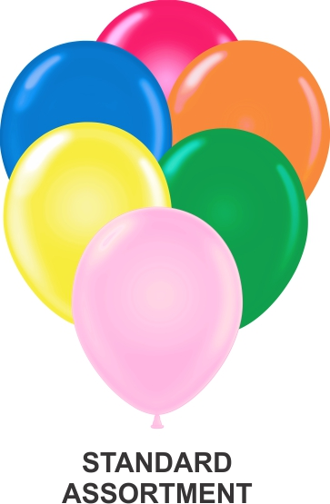 "11"" Assorted Party Style Latex Balloons (100 CT)"
