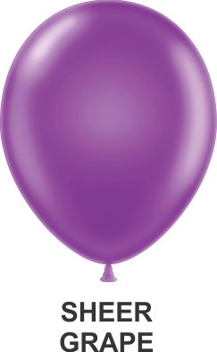 "9"" Sheer Party Style Latex Balloons (100 CT) Grape"