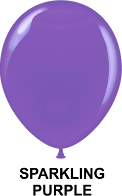 "9"" Metallic Party Style Latex Balloons (100 CT) Purple"