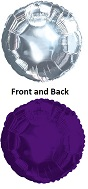 "18"" CTI Brand Purple Circle with Silver Back"