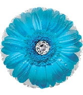 "17"" Blue Gerbera Flower Foil Balloon"