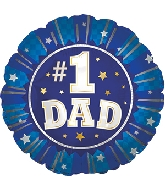 "4.5"" Airfill Only #1 Dad Foil Balloon"