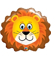 "14"" Airfill Only Lion Head Foil Balloon"