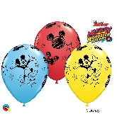 "11"" Junior Mickey Latex Balloons 25 Count"
