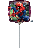 "9"" Airfill Only Spider-Man Animated Foil Balloon"