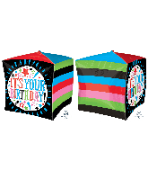 "15"" Cubez It's Your Birthday Sketchy Foil Balloon"