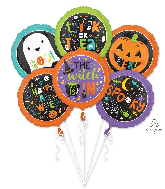 Bouquet Family Friendly Halloween Foil Balloon