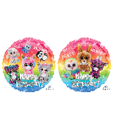 "18"" Beanie Boos Happy Birthday Foil Balloon"