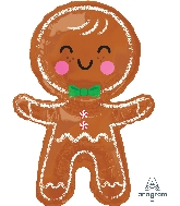 "31"" Happy Gingerbread Man Foil Balloon"