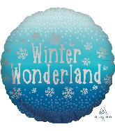"18"" Satin Winter Wonderland Foil Balloon"
