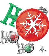 "28"" Ho Ho Ho Ornament Foil Balloon"