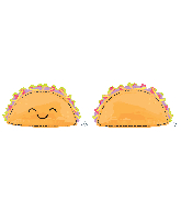 "33"" Jumbo Taco Fun Foil Balloon"