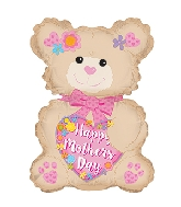 "24"" Happy Mother&#39s Day Latte Bear Foil Balloon"