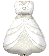"38"" Wedding Dress Foil Balloon"