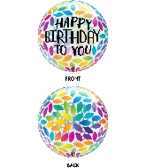 "22"" Birthday Petals Bubble Balloon"