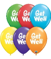 "11"" Get Well Dashed Latex Balloons 50 Count"