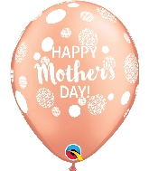 "11"" Happy Mother&#39s Day Dots Latex Balloons 50 Count"