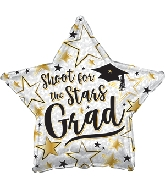 "17"" Shoot For The Stars Grad Prismatic Foil Balloon"