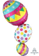 "38"" Jumbo SuperShape Happy Egg Stack Balloon"
