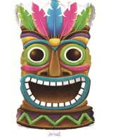 "20"" Crowned Tiki God Balloon"