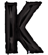 "40"" Large Foil Letter Shape Balloon K Black"