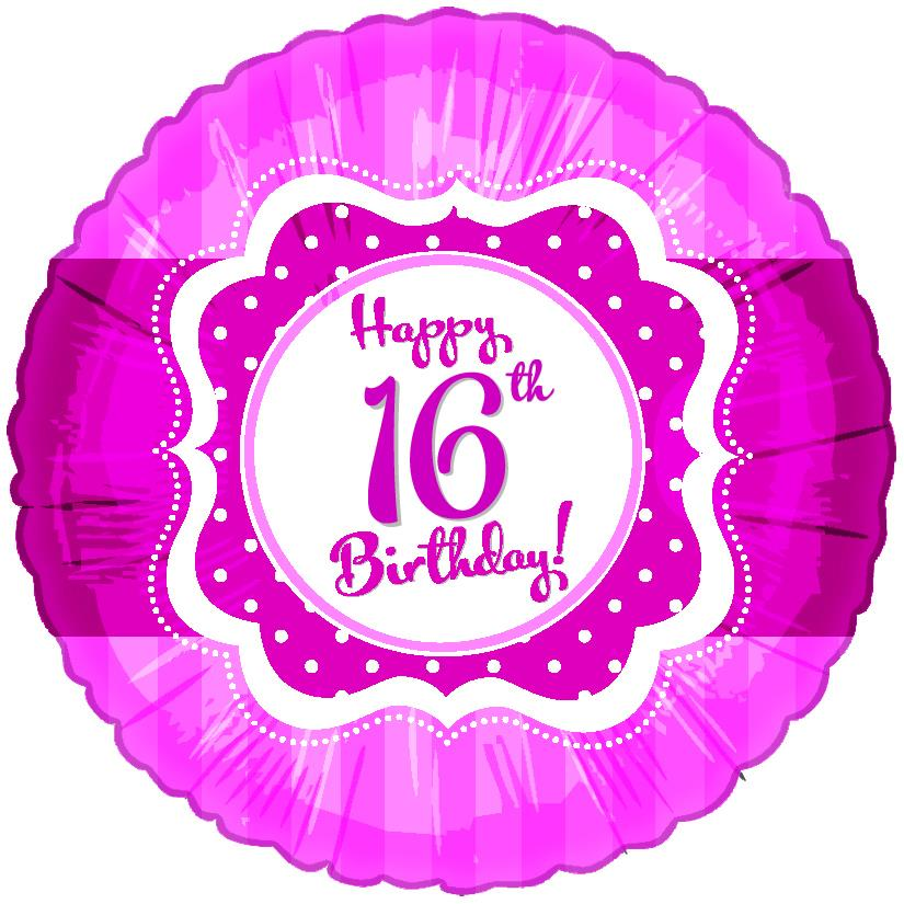 "18"" Perfect Pink ""16"" Happy Birthday Foil Balloon"