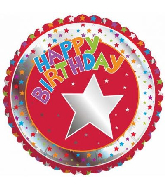 "18"" Children&#39s Milestone Happy Birthday Foil Balloon"