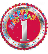 "18"" Children's Milestone ""1"" Foil Balloon"