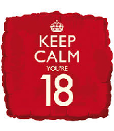 "18"" Keep Calm ""18"" Birthday Foil Balloon"