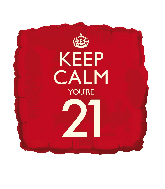 "18"" Keep Calm ""21"" Foil Balloon"