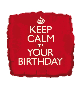 "18"" Keep Calm - Your Birthday Foil Balloon"