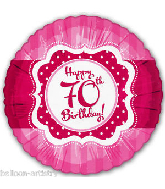 "18"" Perfect Pink ""70"" Happy Birthday Foil Balloon"