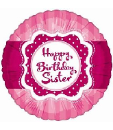 "18"" Perfect Pink Birthday Sister Foil Balloon"