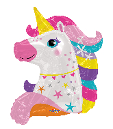 "36"" Unicorn Shape Foil Balloon"
