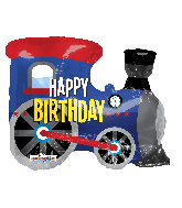 "12"" Airfill Only Birthday Choo Choo Shape Foil Balloon"