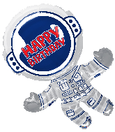 "36"" Happy Birthday Astronaut Jumbo Shape Foil Balloon"